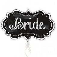 "27"" SuperShape Bride Charlkboard Marquee Balloon"
