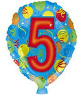 "18"" Number Balloon Shaped ""5"""