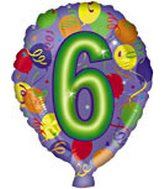 "18"" Number Balloon Shaped ""6"""