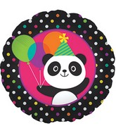 "18"" Panda-Monium Foil Balloon"