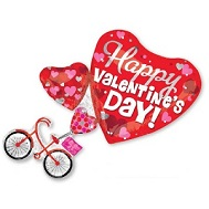 "30"" SuperShape Happy Valentines Day Bike Balloon"