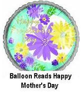 "4"" Airfill Happy Mothers Day Floral Blooms Balloon"
