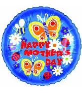 "18"" Happy Mother&#39s Day Butterfly Blooms Balloon"