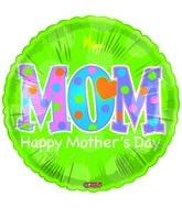 "18"" Happy Mother&#39s Day Green MOM"