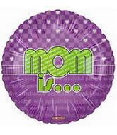 "18"" Mom Is� Lime and Purple Balloon"