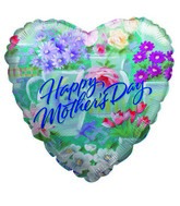 "4"" Airfill Only Balloon Happy Mother&#39s Day Spring"