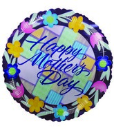 "4"" Airfill Only Balloon Happy Mother's Day Patchwork"