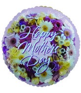 "9""  Airfill Happy Mother&#39s Day Floral Balloon"