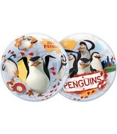 "22"" The Penguins Of Madagascar Plastic Bubble Balloons"