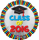 "18"" Class of 2016 Stripes Balloon"