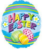 "9"" Airfill Happy Easter Eggs Miniloon Balloon"