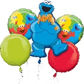 Cookie Monster Style Birthday 5-piece Bouquet