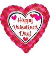 "18"" Happy Valentine's Day Balloon Hearts"