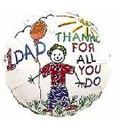 "2"" Airfill #1 Dad Thanks/Kids Balloons"