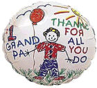 "2"" Airfill #1 Grandpa/Thanks Kids Balloon"