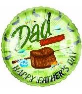 "4"" Airfill Happy Father's Day Dad Gone Fishing"