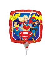 "9"" Airfill Only DC Super Hero Girls Foil Balloon"