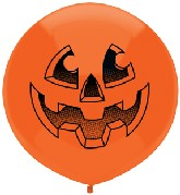 "17"" Outdoor Display Balloons (50 Count) Jack-O-Lantern"