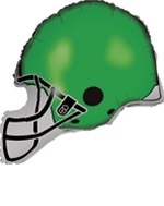 "26"" Green Football Balloon Helmet"