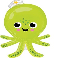 "34"" Jumbo Silly Octopus Balloon"