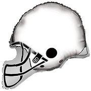 "26"" White Football Balloon Helmet"