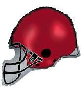 "26"" Maroon Football Balloon Helmet"