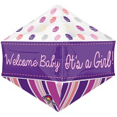 "21"" Ultrashape™ Anglez™ Welcome Baby Girl Balloon"