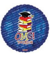 "18"" OMG (Oh My God) You Did It Grad Books"