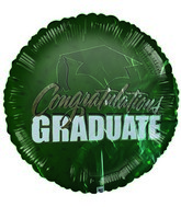 "18"" Congratulations Graduate Class Of (Green)"