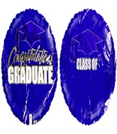"18"" Graduate Add a name Purple Balloon with stickers"