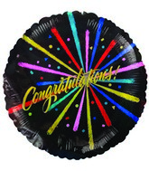 "9"" Airfill Only Congratulations! Black"
