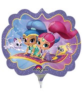 "13"" Airfill Only Shimmer and Shine Balloon"