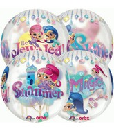 "16"" Packaged Orbz Shimmer and Shine Balloon (Floats)"