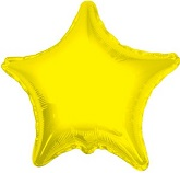 "9"" Star Yellow Brand Convergram Balloon"