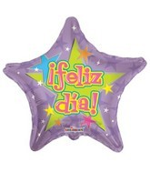 "9"" Airfill Feliz Dia Purple Balloon"