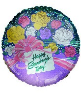 "36"" Happy Secretary&#39s Day Rose Bouquet Shaped Balloon"