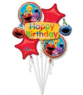 Bouquet Sesame Street Fun Balloon
