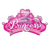 "32"" Jumbo Princess Crown & Gem Foil Balloon"
