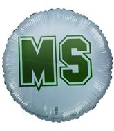 "18"" Michigan State University Green White balloon"