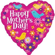 "28"" Jumbo Happy Mother's Day Birds Balloon"