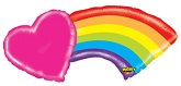 "43"" Mighty Rainbow Heart Balloon"