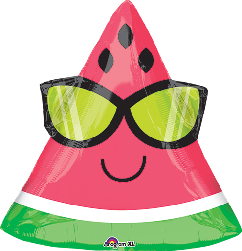 "18"" Junior Shape Fun in the Sun Watermelon Balloon"