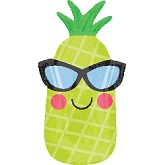 "26"" Junior Shape Fun in the Sun Pineapple Balloon"