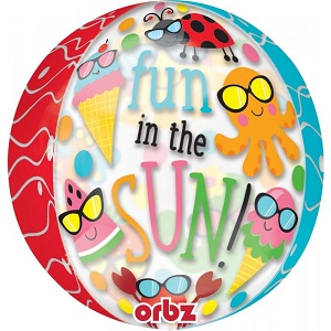 "16"" Orbz Fun in the Sun Cute Characters Balloon"
