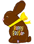 "39"" Happy Easter Chocolate Bunny"