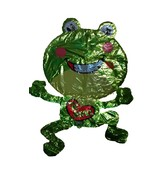 "36"" Te Amo Frog & Heart Spanish Jumbo Balloon"