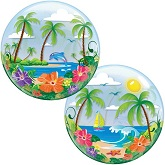 "22"" Tropical Getaway Plastic Bubble Balloons"