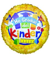 "36"" Me Gradue del Kinder School Suplies Yellow Balloon"