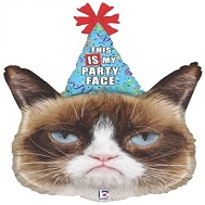 "36"" Foil Licensed Shape Grumpy Cat� Party Face Balloon"