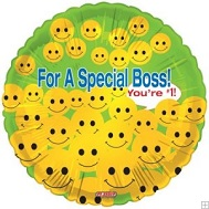 "18"" For A Special Boss Smiley"
